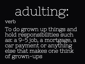 adulting definition image