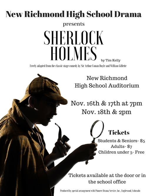 Sherlock Holmes production poster