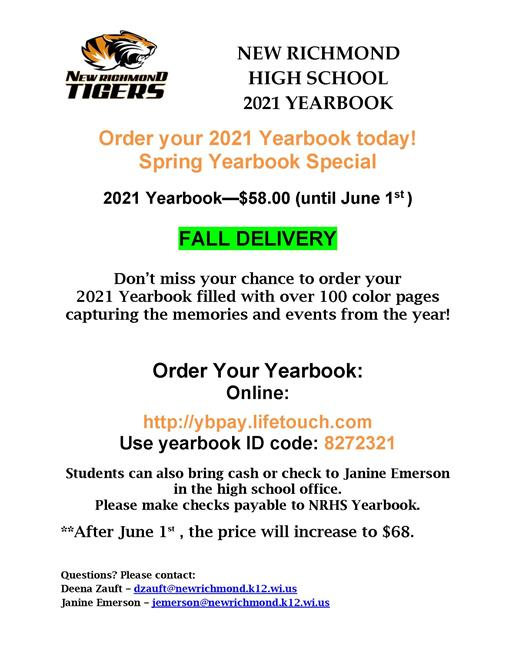 NRHS 2021 Yearbook Sale